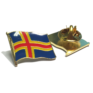 Ålands flagga som pin